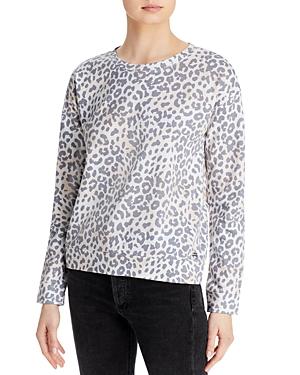 Drop Shoulder Leopard Print Top