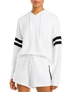 AQUA - Stripe Sleeve Hoodie - 100% Exclusive