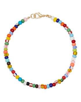 AQUA - Multicolor Beaded Ankle Bracelet in Gold Tone - 100% Exclusive