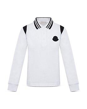 Moncler - Unisex Long Sleeve Cotton Polo - Little Kid, Big Kid