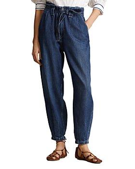Ralph Lauren - Belted Denim Trousers in Blue