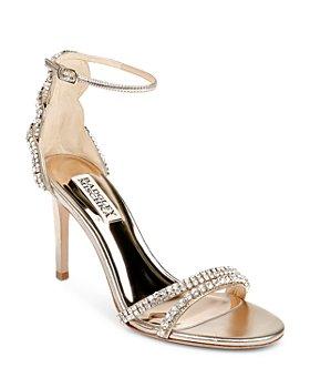 Badgley Mischka - Women's Bella Ankle Strap Embellished Sandals