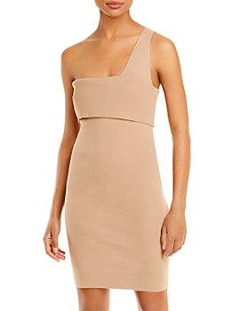 Line & Dot - Sylvie One Shoulder Ribbed Dress