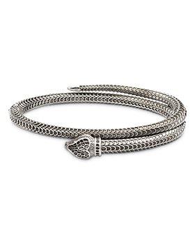 Gucci - Sterling Silver Gucci Garden Bangle Bracelet