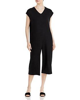 Eileen Fisher - Cropped Wide Leg Jumpsuit