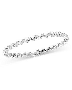 Bloomingdale's - Diamond Lattice Tennis Bracelet in 14K White Gold, 5.0 ct. t.w. - 100% Exclusive