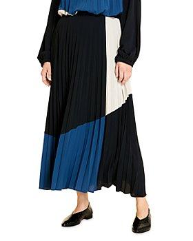 Marina Rinaldi - Calypso Colorblock Accordion Pleated Maxi Skirt