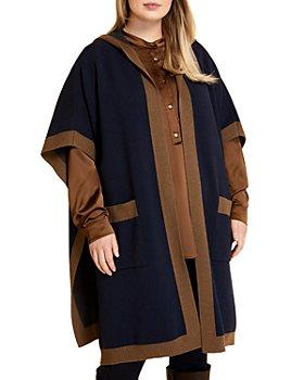 Marina Rinaldi - Sabir Hooded Poncho Sweater