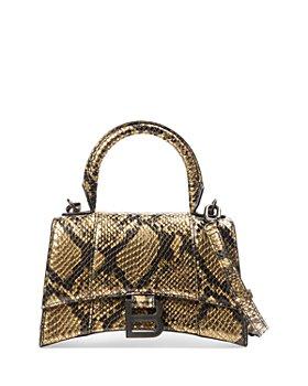 Balenciaga - Hourglass XS Leather Top Handle Bag