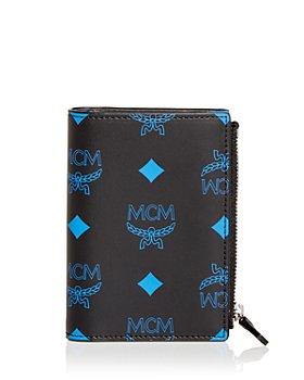 MCM - Color Splash Logo Slim Leather Bifold Wallet