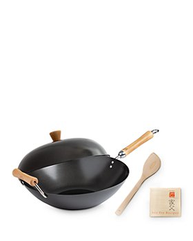 Honey Can Do - Classic Series Carbon Steel Nonstick Four Piece Wok Set (44% off) - Comparable value $72