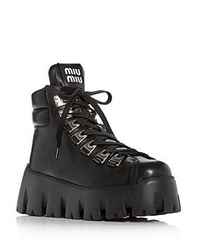 Miu Miu - Women's Platform Wedge Hiking Boots