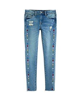 BLANKNYC - Girls' Mid Rise Star Embroidery Skinny Jeans - Big Kid