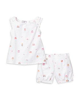 Petite Plume - Girls' Amelie Cotton Shorts Pajama Set - Baby, Little Kid, Big Kid