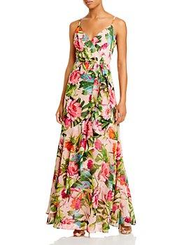Eliza J - Sleeveless Pleated Chiffon Maxi Dress