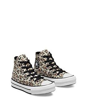 Converse - Girls' Leopard Heart All Star High Top Platform Sneakers - Toddler, Little Kid, Big Kid