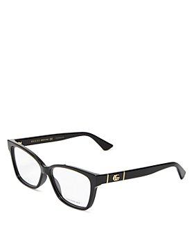 Gucci - Women Cat Eye Clear Glasses, 55mm