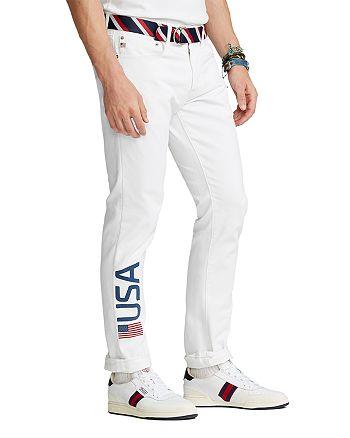 Polo Ralph Lauren - Team USA Closing Ceremony Sullivan Slim Fit Jeans in White