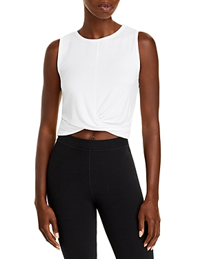 Cover Twist-Front Cropped Tank