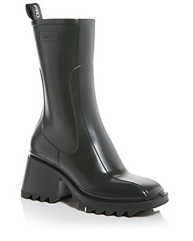 Chloé - Women's Betty Block Heel Platform Rain Boots