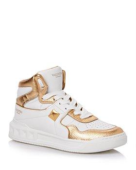 Valentino Garavani - Women's Metallic Detail Mid Top Sneakers