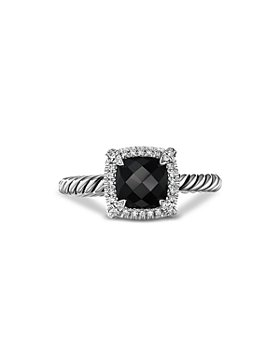 David Yurman - Sterling Silver Petite Chatelaine® Ring with Black Onyx & Diamonds - 100% Exclusive