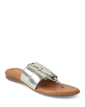 Women's Elise Metallic Thong Slide Sandals