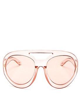 Tom Ford - Women's Serena Brow Bar Shield Sunglasses, 68mm