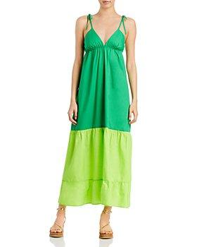 AQUA - Colorblock Maxi Dress - 100% Exclusive