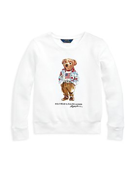 Ralph Lauren - Girls' Polo Bear Sweatshirt - Little Kid, Big Kid