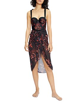 Ted Baker - Printed Sarong Swim Cover-Up