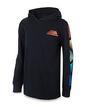 Adidas - Boys' Cotton Innovation Hooded Long Sleeved Tee - Big Kid