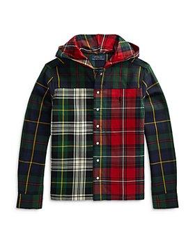 Ralph Lauren - Boys' Hooded Plaid Shirt - Little Kid, Big Kid