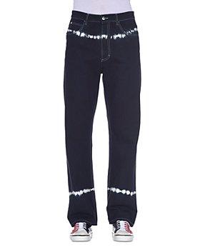 Marni - Straight Fit Tie Dye Jeans in Black