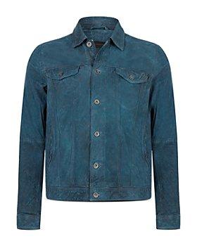 John Varvatos Star USA - Steven Leather Trucker Jacket