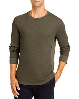 Vince - Pima Cotton Blend Thermal Waffle Knit Tee