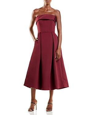 Faille Strapless Dress