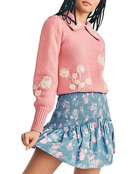 LoveShackFancy - Anguilla Printed Smocked Skirt
