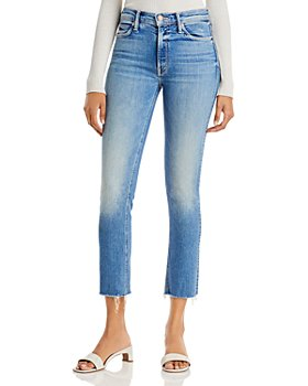 MOTHER - Dazzler Mid Rise Ankle Fray Jeans in Riding The Cliffside