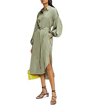 Ted Baker - Satin Midi Shirt Dress