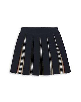 Burberry - Girls' Icon Stripe Detail Pleated Skirt - Little Kid, Big Kid