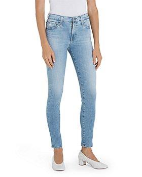 AG - Farrah Skinny Ankle Jeans in Blue Above