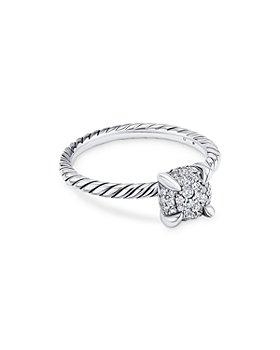David Yurman - Sterling Silver Petite Châtelaine® Diamond Pavé Cable Ring