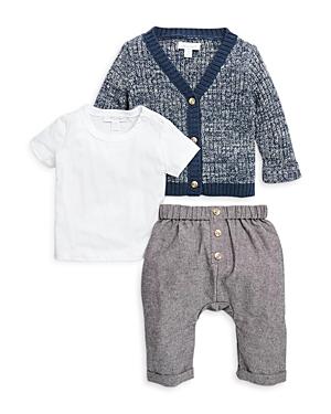 Miniclasix Boys' Cardigan, Top & Pants Set - Baby