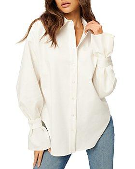 Good American - Tab Poplin Shirt