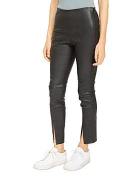 Theory - Slit Leather Pants