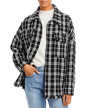 AQUA - Plaid Shirt Jacket - 100% Exclusive