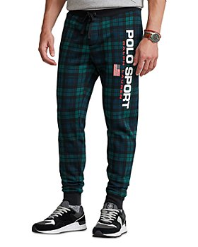 Polo Ralph Lauren - Polo Sport Cotton Blend Fleece Black Watch Tartan Classic Fit Jogger Pants