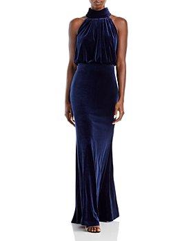 Eliza J - Mock Neck Blouson Gown