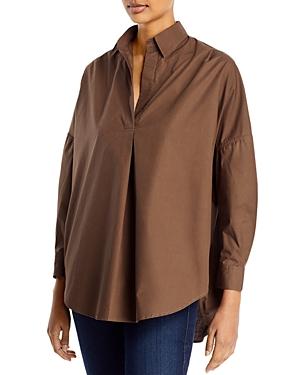 Rhodes Oversize V-Neck Poplin Shirt